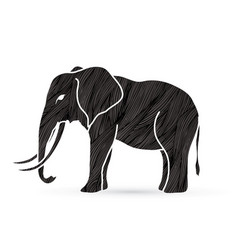 elephant standing side view vector image