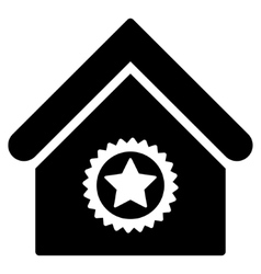 Excellent building flat icon vector