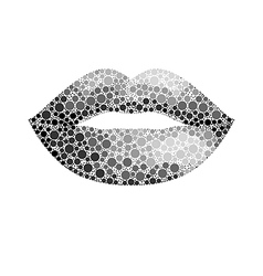 Glamour lips vector