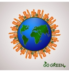 Go green design template Environment vector image