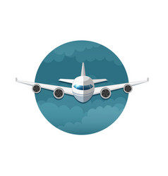 icon of airplane vector image vector image