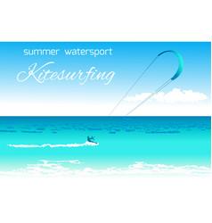 Kitesurfing summer watersport concept vector