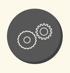 Mechanical gears symbolizing mechanics a circular vector