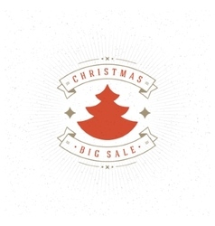 Merry Christmas Big Sale Card and Decoration vector image vector image