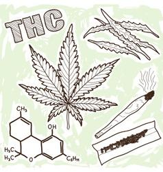 narcotics - marijuana vector image