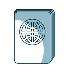 passport document isolated icon vector image