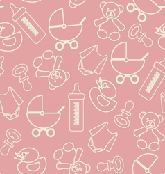 Pattern of baby shower vector image