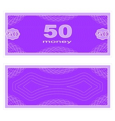 Play money Fifty vector image vector image