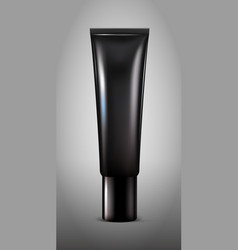 realistic black cosmetic tube concept vector image vector image