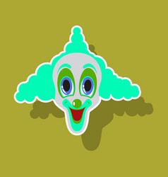 Realistic paper sticker on theme humor cheerful vector