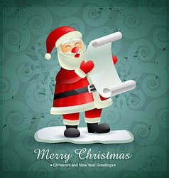 Santa claus with list of gifts vector