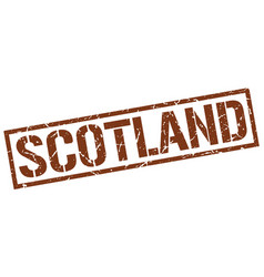 Scotland brown square stamp vector