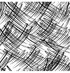 Seamless pattern with black scribbles vector