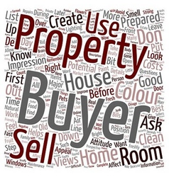 Sell a house in the first 60 seconds text vector