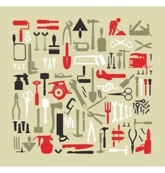 Set building tools vector image vector image
