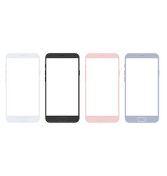 set of mobile smart phone mockups for apps vector image vector image