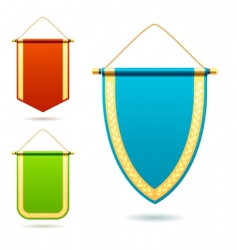 set of pennants vector image vector image
