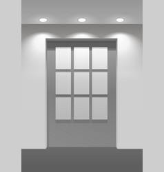 Showroom panel vector