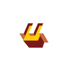 Sign of the letter U vector image