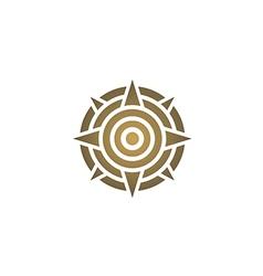 Star round target direction decoration logo vector