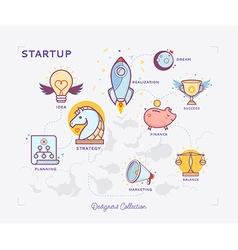 Start Up Icon Set vector image