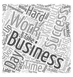 The entrepreneur s checklist text background vector