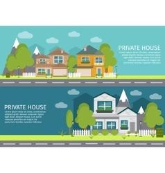 Urban Landscape Banner Set vector image