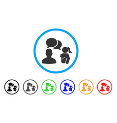 User chat with naked lady rounded icon vector