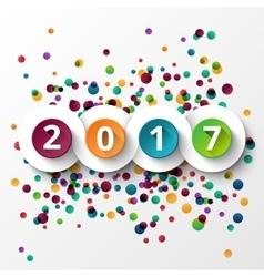 Happy new year 2017 celebration vector