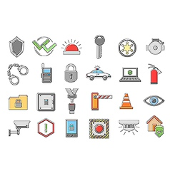 Security system icons set vector