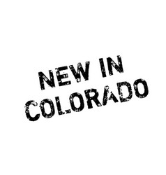 New in colorado rubber stamp vector