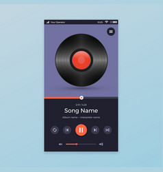 Music player ui app design vector