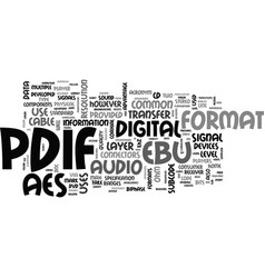 What is s pdif text word cloud concept vector