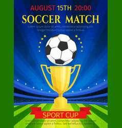 poster for soccer match championship vector image