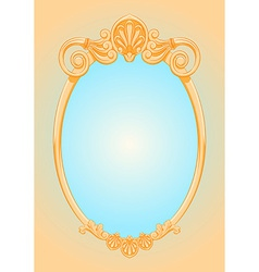 Beautiful ornate ellipse frame vector