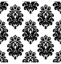 Three tulip pattern vector