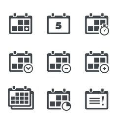 Icon calendar with notes vector