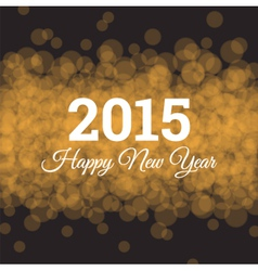 happy new year 2015 card light background vector image