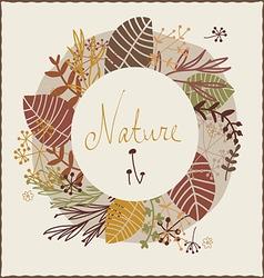 Floral autumn design vector image