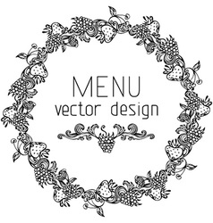 Circle menu design vector