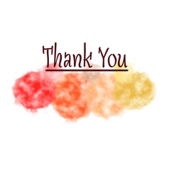 Thank you card cloud watercolor background vector
