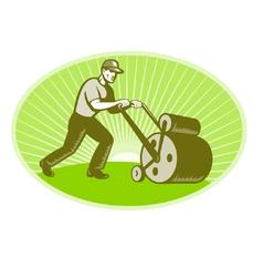 groundsman grounds keeper vector image