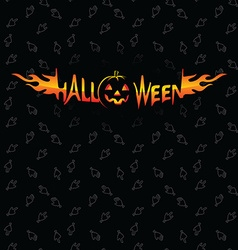 Halloween holidays and zombie theme seamless vector