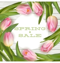 Bright spring sale design eps 10 vector
