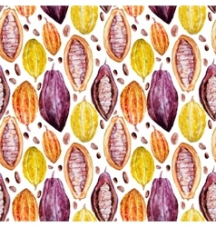 Watercolor cocoa pattern vector