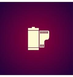 Flat camera film roll vector