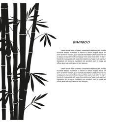 Black bamboo silhouette on a white background vector