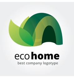Abstract eco house logotype concept isolated on vector