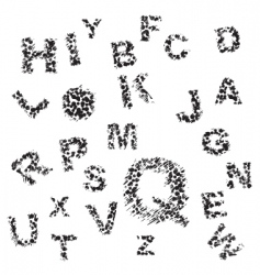 alphabet letters pattern vector image vector image