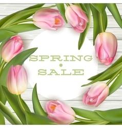 Bright spring sale design EPS 10 vector image